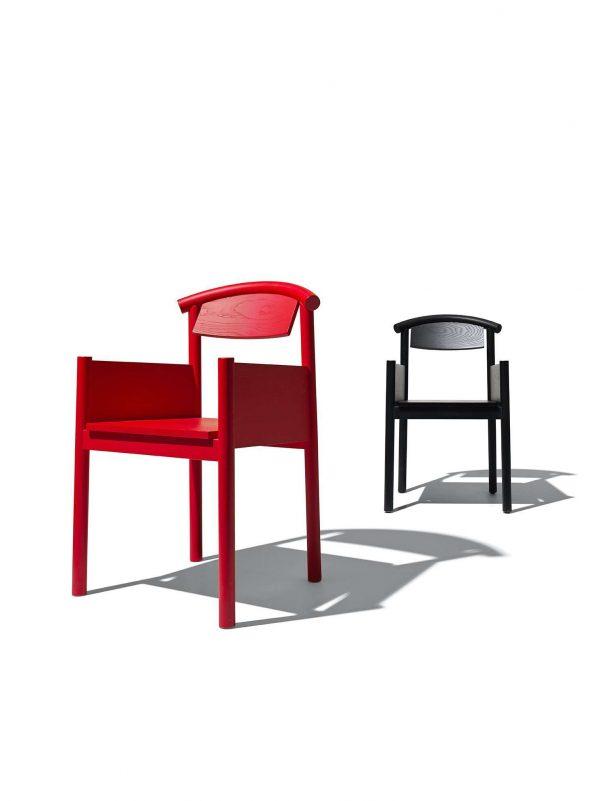 Plan sedia con braccioli in legno | InternoItaliano